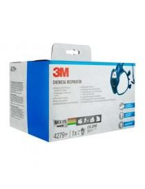 Masque de protection vapeur à filtres intégrés contre les vapeurs organiques ABEK1P3R D 3M™ 4279