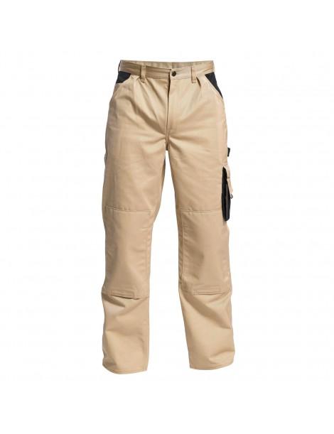 Pantalon Bicolore Beige/Noir