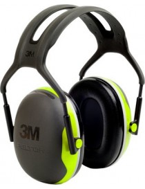 Casque antibruit 3M™ PELTOR™ série X4A, version serre-tête, 33 dB, Hi-Viz