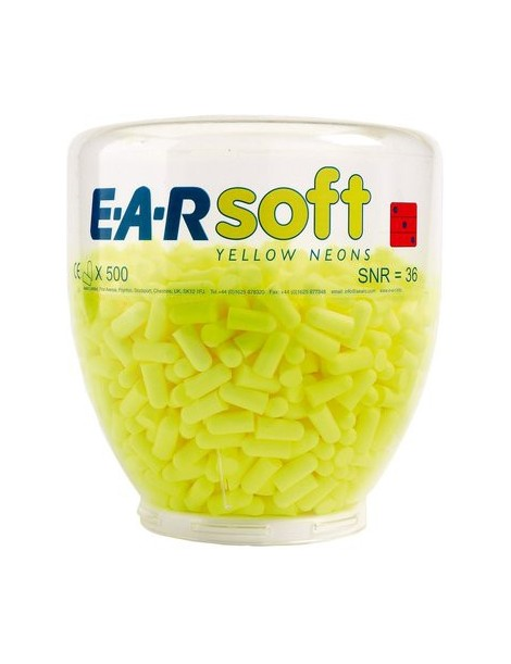 Distributeur de bouchons d'oreille 3M™ E-A-Rsoft™ Yellow Neon PD-01-002