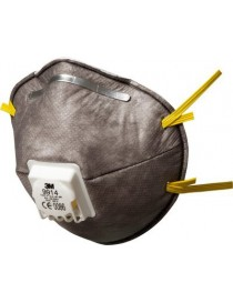 10 Masque antipoussière coque spécifique odeurs gênantes et vapeurs organiques 3M™ 9914 - FFP1, avec soupape Coolflow™
