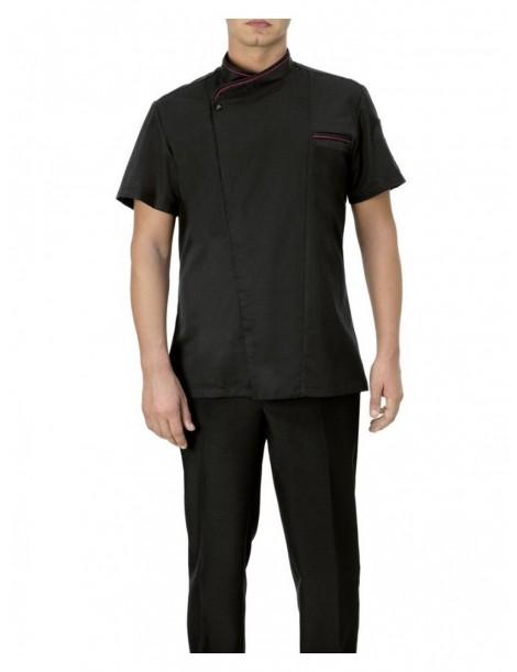 Veste Giacca Thiago noir manches courtes